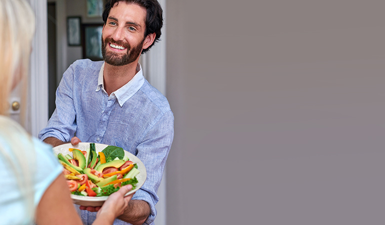 Offer To Cook A Healthy Dish For A Dinner Party