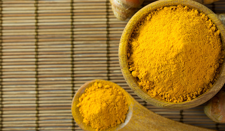 Turmeric is a great anti-inflammatory substance.