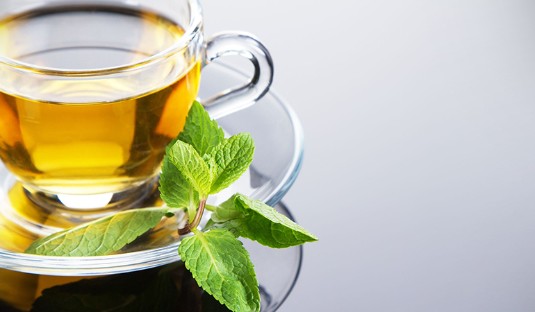 Peppermint helps relax the digestive tract.