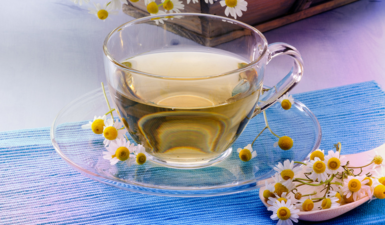 Chamomile tea is great in curing skin ailments and is a natural bleach and a moisturizer.