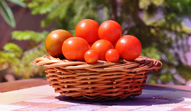 Get rid of sunburns by having tomatoes in your salad with an olive oil dressing.
