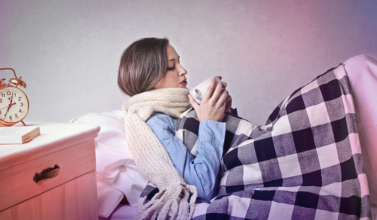 Hot water keeps you warm and hydrated