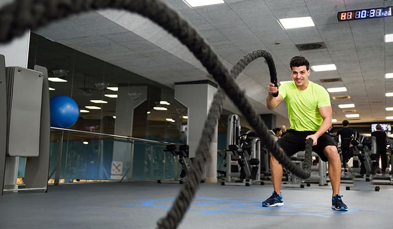 Battle ropes burn 618 calories.