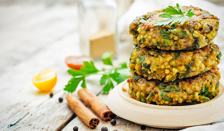 Toss in turmeric with your burger patties