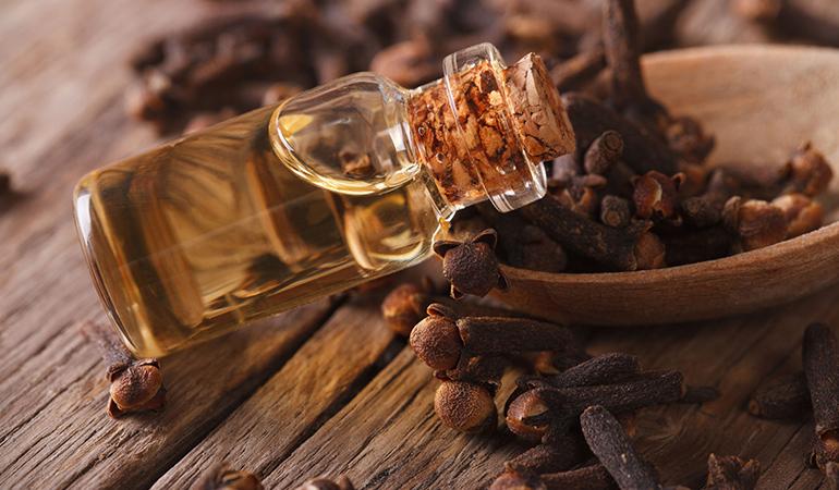 Clove oil is great as a painkiller.