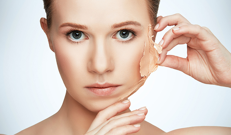 Physical and chemical exfoliation of skin are both used to remove dead skin cells