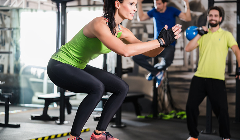 Don't stare at any man or woman working out in the gym.