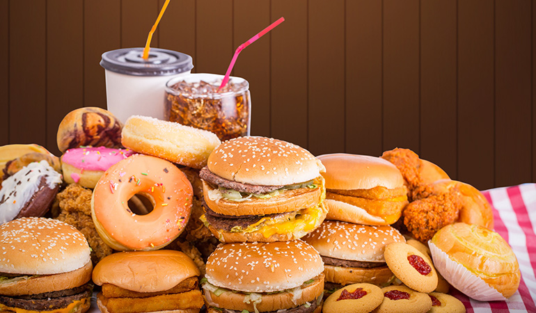 Unhealthy food is comforting but bad for your body