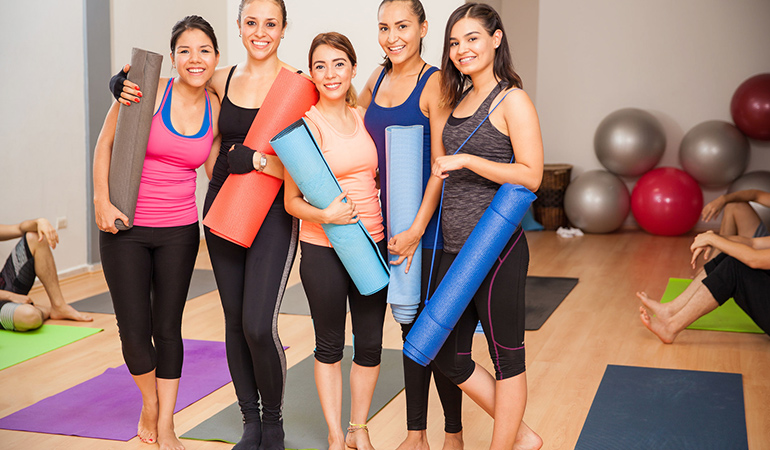 Group exercises allow you to meet new people and explore your social role