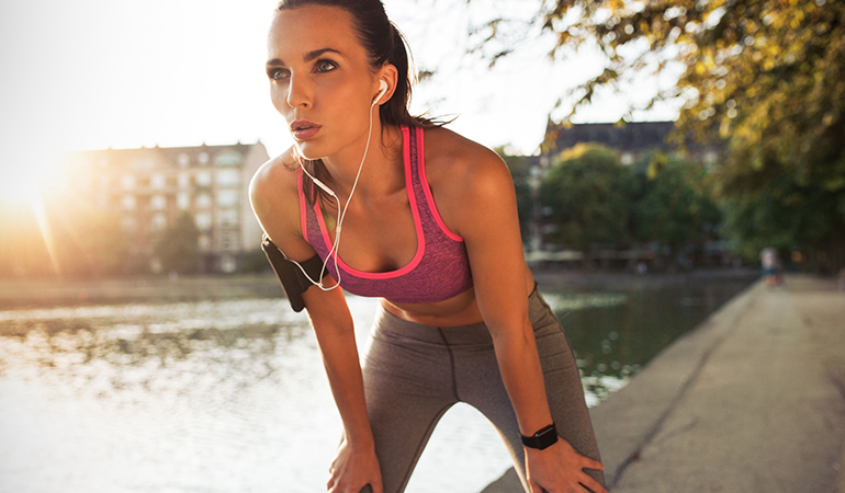 Too much exercise increases the susceptibility to infection