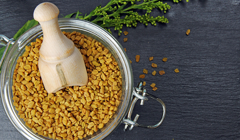 Fenugreek is full of protein which strengthens hair