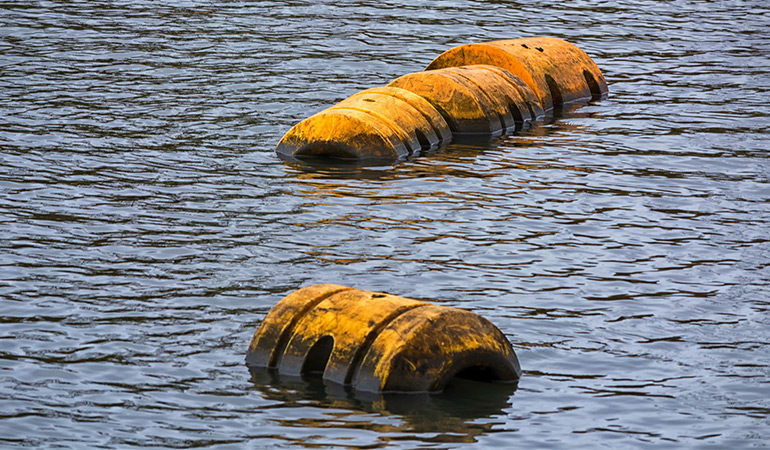 Floating poop contains excess gas