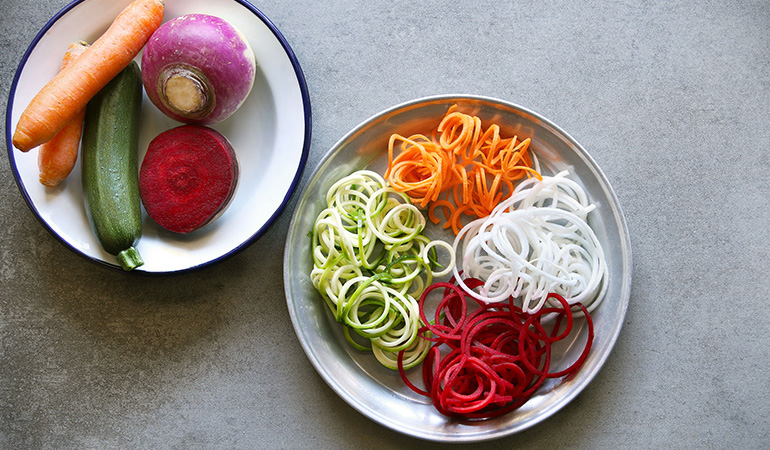 vegetable noodles are grain-free pasta alternatives