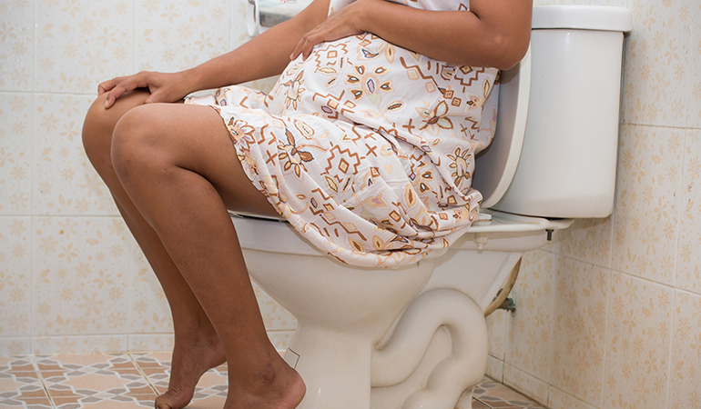 Hemorrhoids during pregnancy are the result of a growing uterus making space for the baby