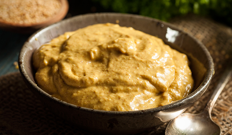 Mustard can be made at home with turmeric