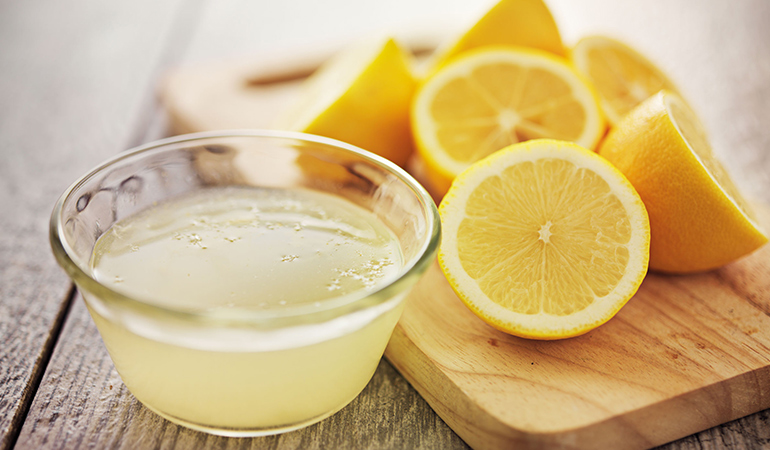 Lemon juice is a natural bleaching agent for highlights
