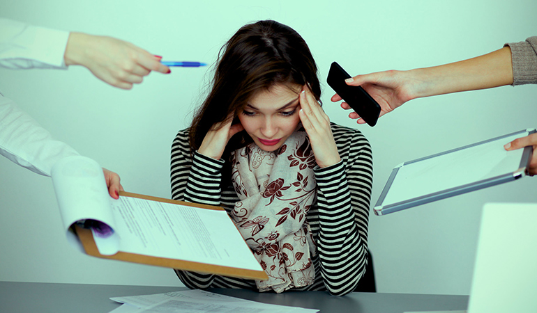 Constant high stress levels results in reduced immunity