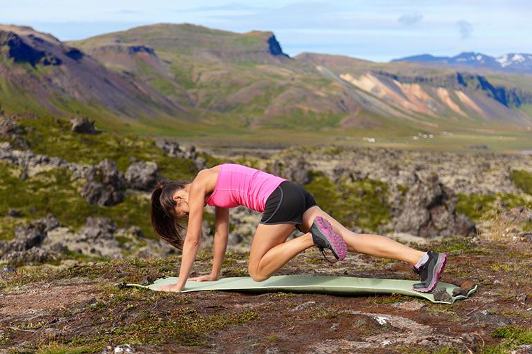 Jump squats strengthen legs and hips.