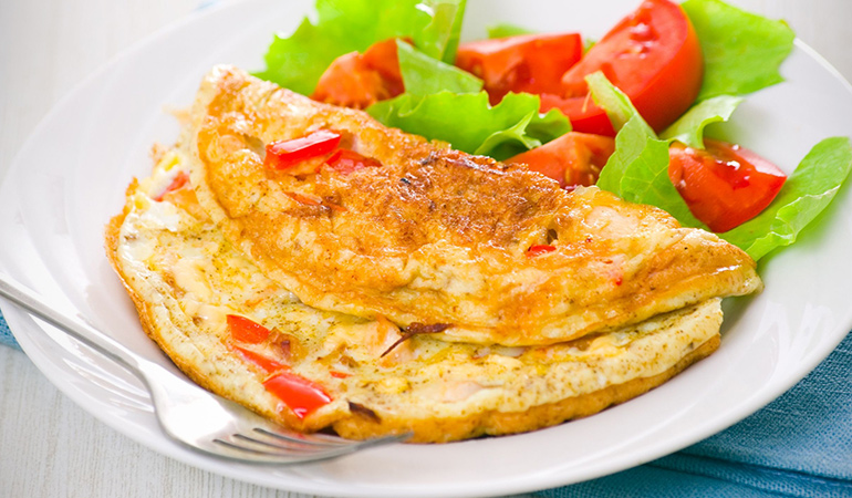 Omelets can be enahance in their nutritious value by adding turmeric