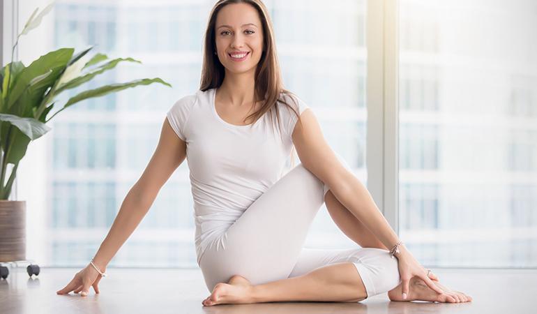 Ardha Matsyendrasana helps tone the entire digestive system