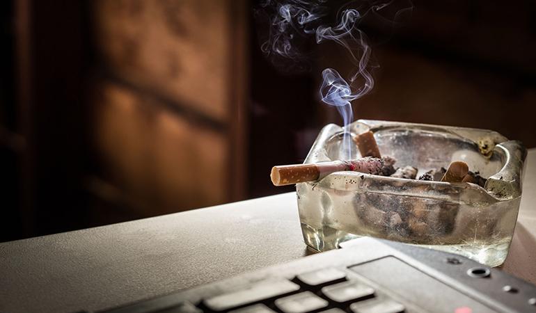 Bone density reduces with regular smoking