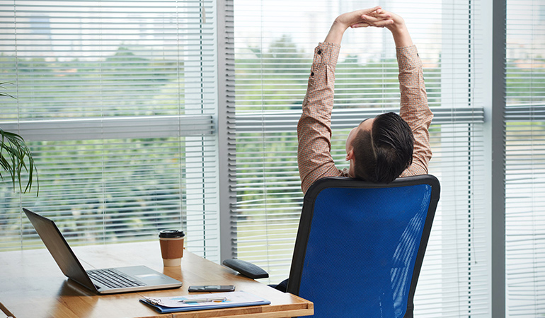 Stretching prevents lower back tension