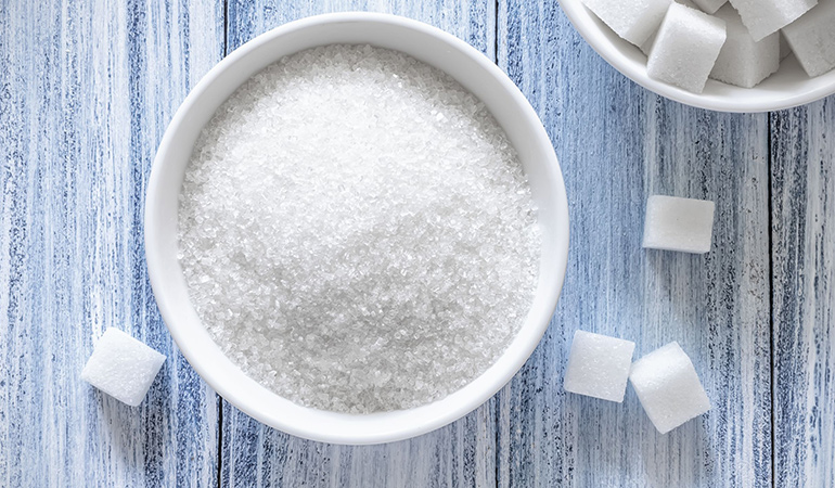 Sugars provide food for bacteria