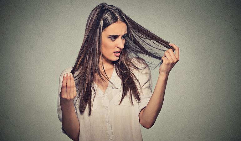 Biotin deficiency causes hair loss.