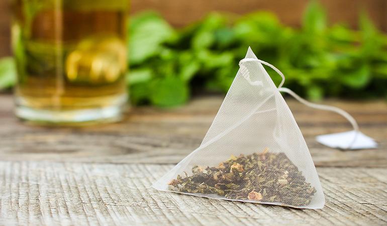 Tea rinse darkens hair.