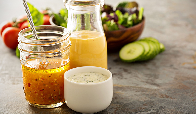 Make your own vinegar and turmeric salad dressing