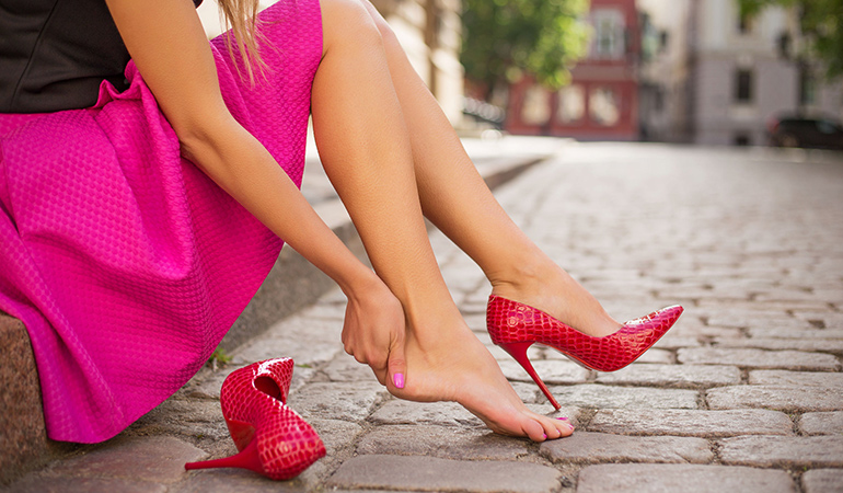 Body's alignment is disrupted because of high heels