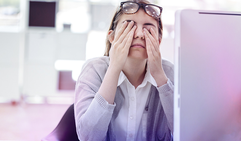 Fatigue can last for weeks, with trouble sleeping