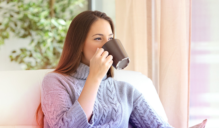 Caffeine can stay in your system for up to 8 hours