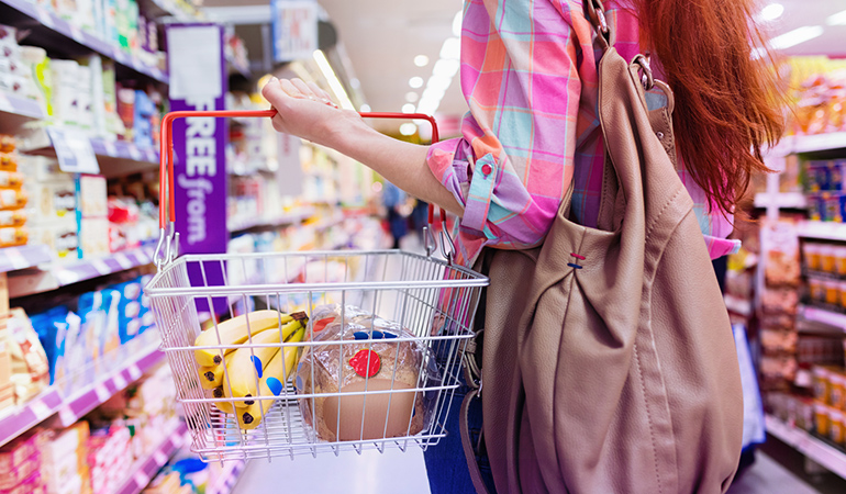Don't shop on an empty stomach