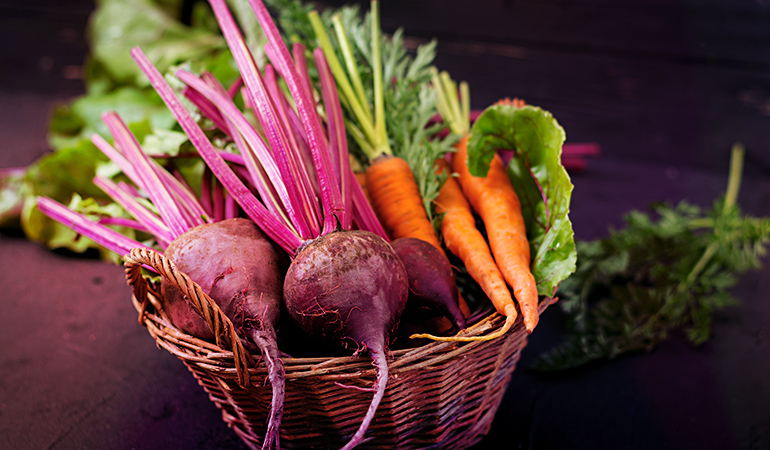 If stored properly in the fridge, root vegetables will stay for a long time.