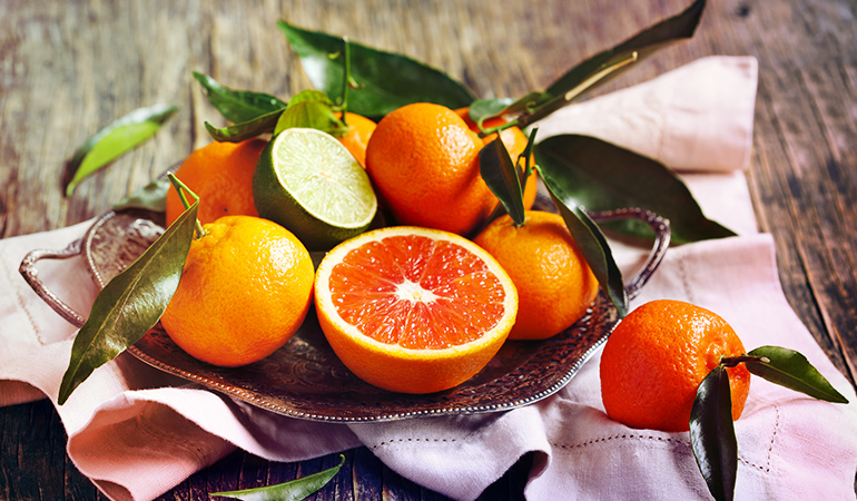 Best kept on the counter, citrus remains juicy when stored in the room temperature