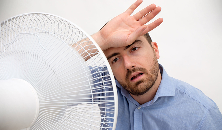 When your body is overheating, you tend to constantly feel hot