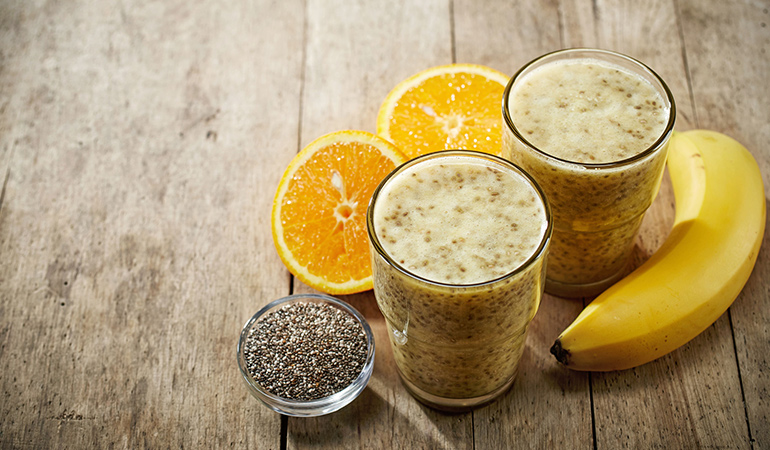 Banana smoothie with flaxseeds can reduce asthma symptoms