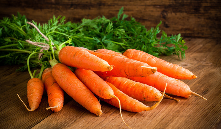 Vitamin A obtained from carrots boosts your immunity against disease-causing antigens.