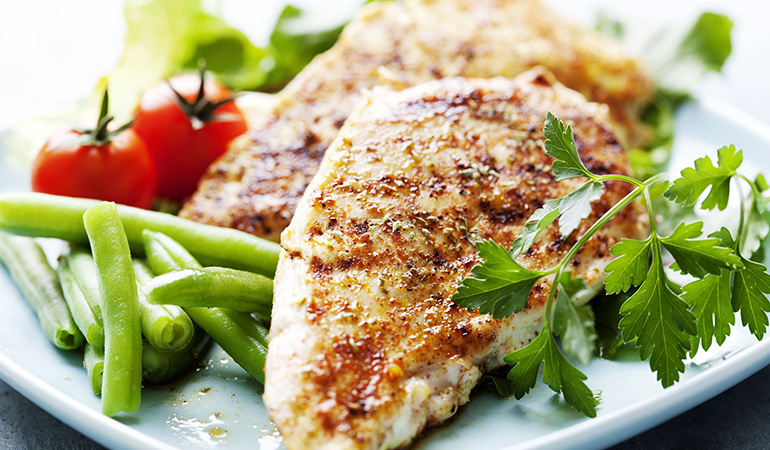 Chicken breast is a great lean source of protein
