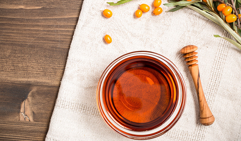 Cleansing oils like the sea buckthorn berry oil are great