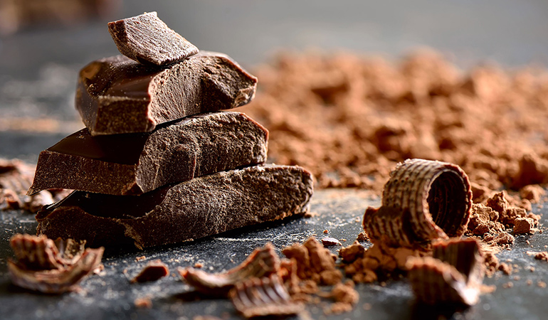 For optimal benefits, buy dark chocolate with 72 percent cocoa or more
