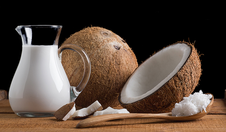 Coconut milk is a lactose-free and dairy-free alternative to sour cream