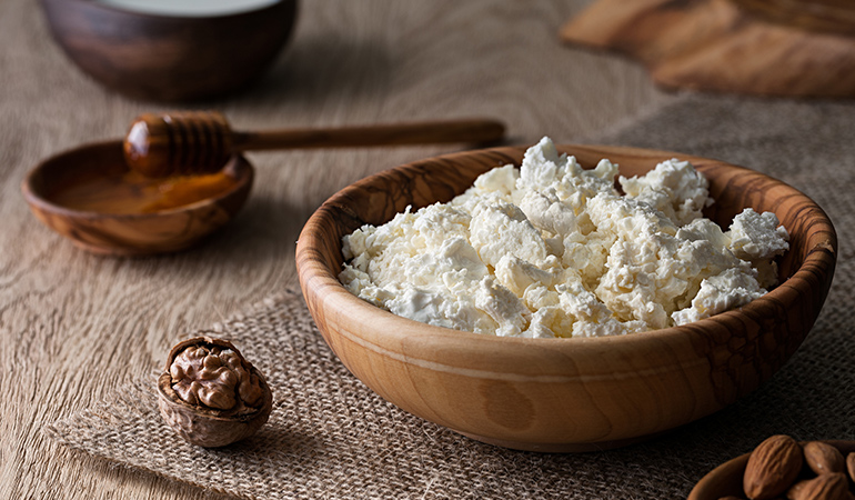 Cottage cheese is a milder form of sour cream with more protein