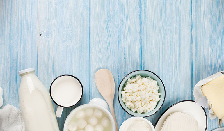 High-lactose dairy products like milk can aggravate IBS symptoms
