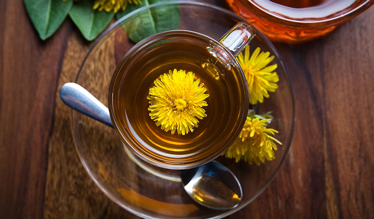 Dandelion can relieve heartburn and indigestion