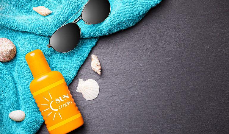 Sunless tanning products don't contain sunscreen and hence do not offer sun protection.