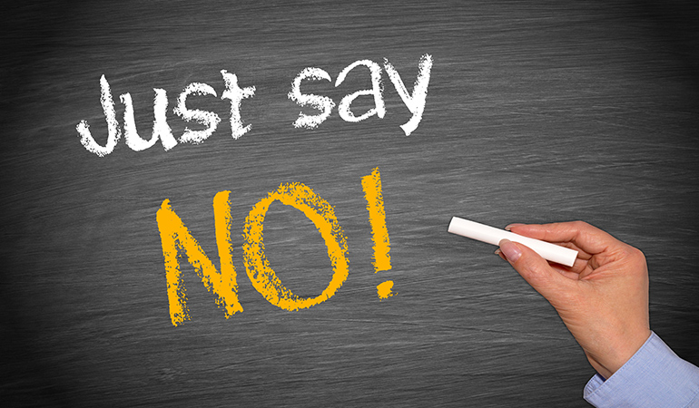 It's okay to say no.