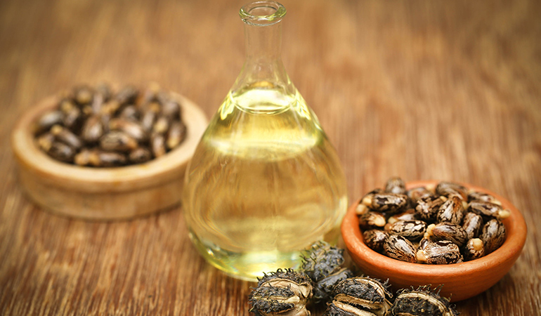 Castor oil mixed with eggs can help nourish your hair