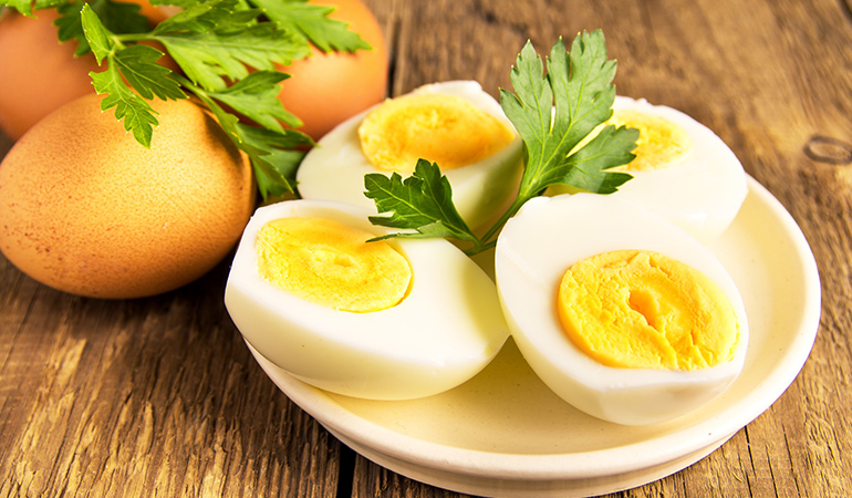 Eggs not only provide protein but also vitamins, minerals, and healthy fats